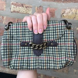 J. Crew Houndstooth Wool Clutch Handbag